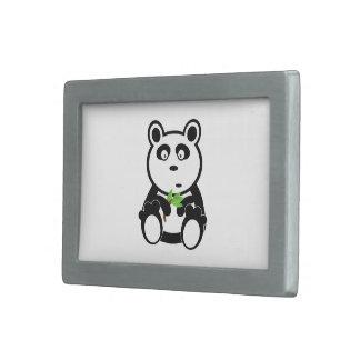 Panda Bear Black White Destiny Gifts Rectangular Belt Buckle
