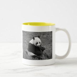 Panda Bear (black & white) Two-Tone Coffee Mug