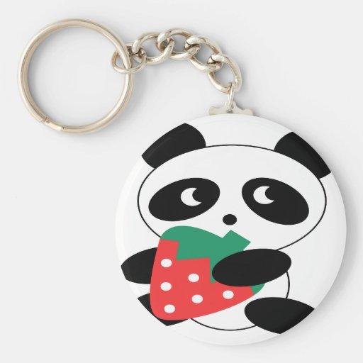 Panda bear Blank Basic Round Button Keychain
