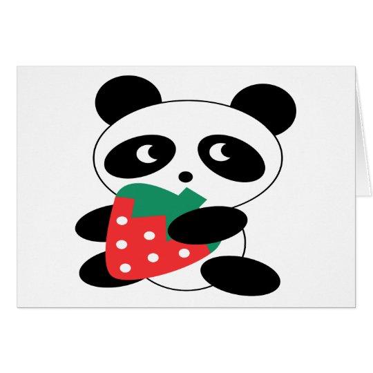 Panda bear Blank Card