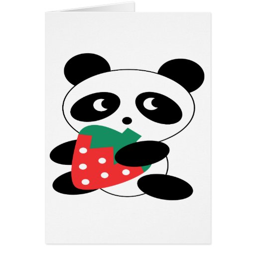 Panda bear Blank Greeting Card