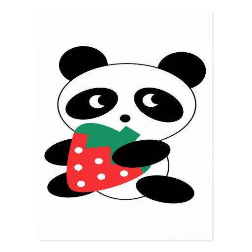 Panda bear Blank Postcard