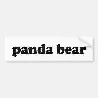 PANDA BEAR BUMPER STICKERS