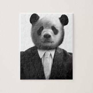 Panda Bear Business Suit Jigsaw Puzzle