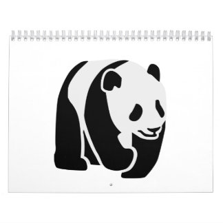 Panda bear calendar