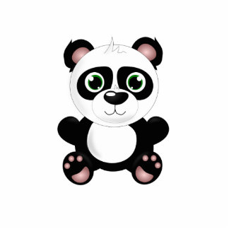 Panda bear cartoon cutout