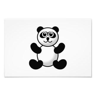 Panda bear cartoon photo print