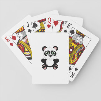 Panda bear cartoon playing cards