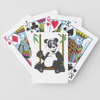 Panda Bear Cartoon Swing Bicycle Playing Cards