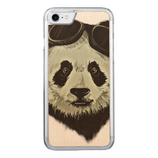 Panda Bear Carved iPhone 7 Case