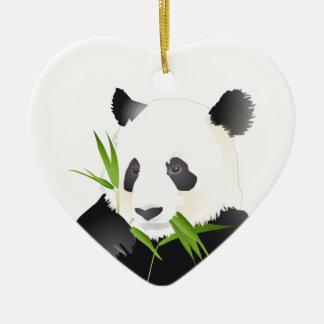 Panda Bear Ceramic Ornament