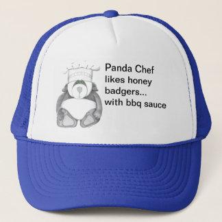 Panda Bear Chef Likes Honey Badgers Trucker Hat