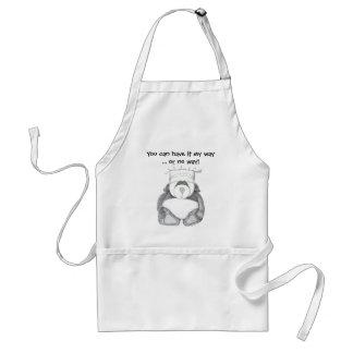 Panda Bear Chef Picture Adult Apron