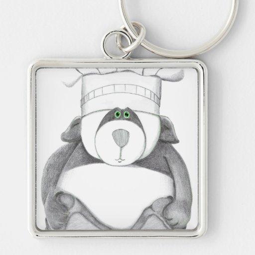 Panda Bear Chef Picture Keychain