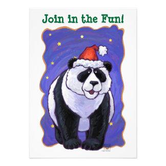 Panda Bear Christmas Card