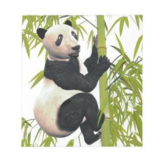 Panda Bear Climbing A Bamboo Tree Notepad