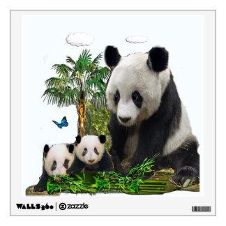 Panda bear clock wall sticker