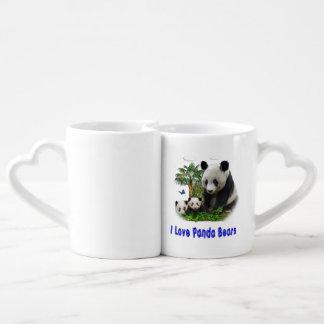 panda bear coffee mug set