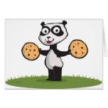 Panda Bear Cookie Greeting Cards