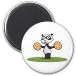 Panda Bear Cookie Refrigerator Magnets