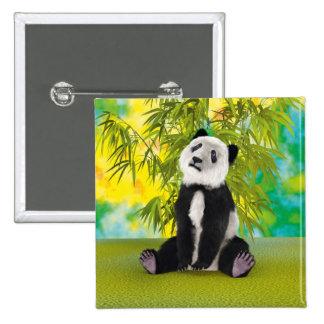 Panda Bear Cub 2 Inch Square Button