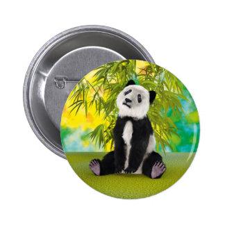 Panda Bear Cub 2 Inch Round Button