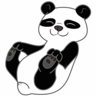 Panda Bear Cub Photo Sculpture Button
