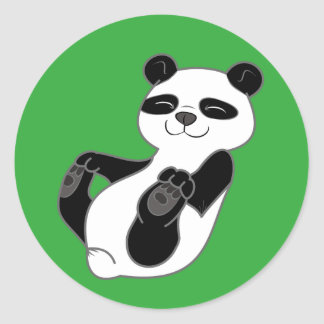 Panda Bear Cub Classic Round Sticker