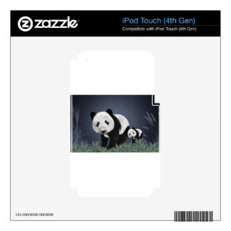 panda bear cute cuddly animal black white sweet decal for iPod touch 4G