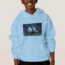panda bear cute cuddly animal black white sweet hoodie
