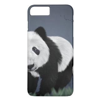 panda bear cute cuddly animal black white sweet iPhone 8 plus/7 plus case