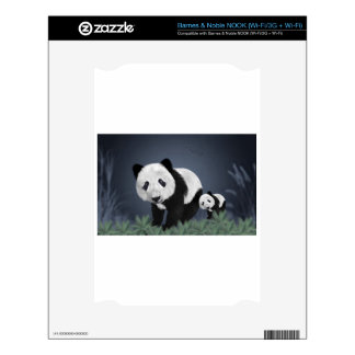panda bear cute cuddly animal black white sweet decal for the NOOK