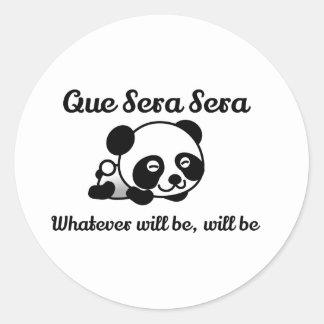 Panda Bear! Cute Que Sera Sera Classic Round Sticker