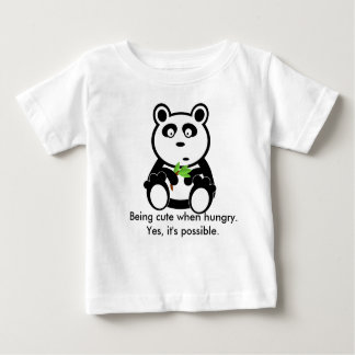 Panda bear cute when hungry t-shirt for infants