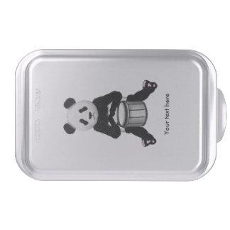 Panda Bear Drum Illustration Cake Pan
