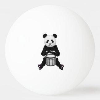 Panda Bear Drum Illustration Ping Pong Ball