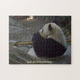 Panda Bear Eating Bamboo Puzzle