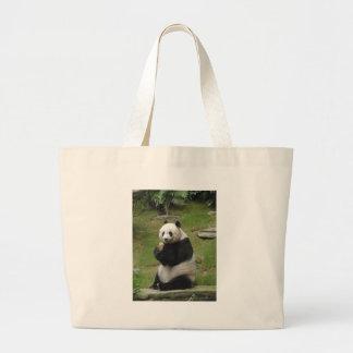 Panda Bear eating some bamboo Tote Bag