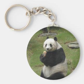 Panda Bear eating some bamboo Key Chains