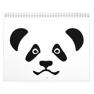 Panda bear face calendar