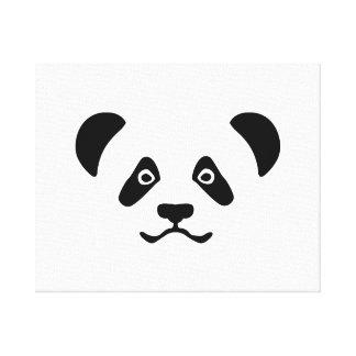 Panda bear face canvas print