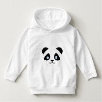 panda bear face hoodie