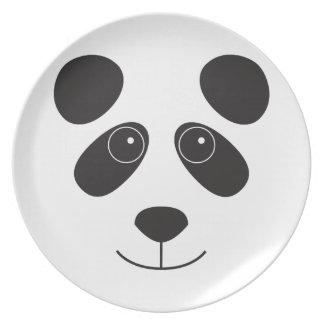 Panda Bear Face Party Plate