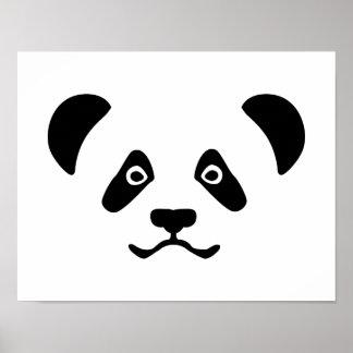 Panda bear face poster