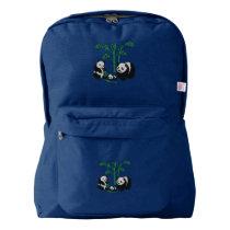 Panda Bear Family American Apparel™ Backpack