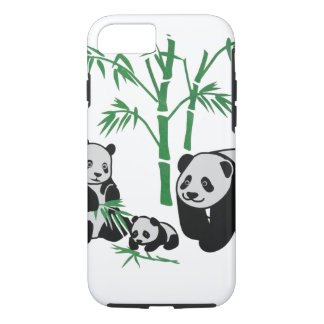 Panda Bear Family iPhone 7 Case