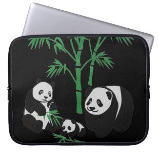Panda Bear Family Laptop Sleeve