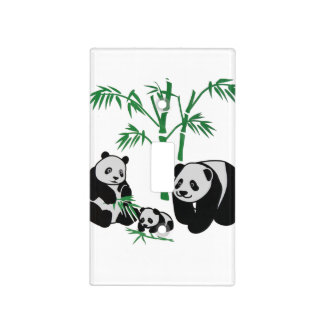 Panda Bear Family Light Switch Cover