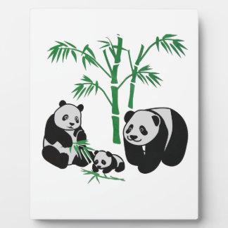 Panda Bear Family Plaque