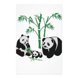 Panda Bear Family Stationery